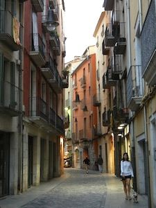the streets of girona in costa brava, spain