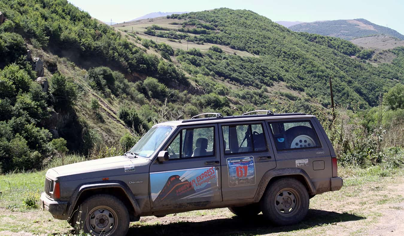 the jeep car that Ric from Global Gaz drove in a global rally