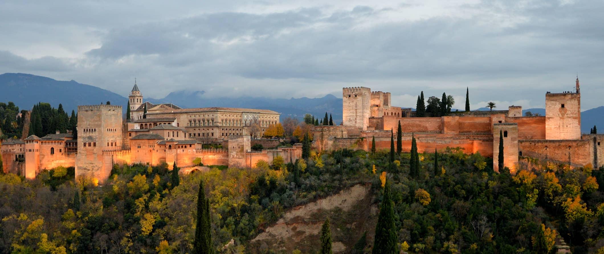 the castle in Granada, Spain