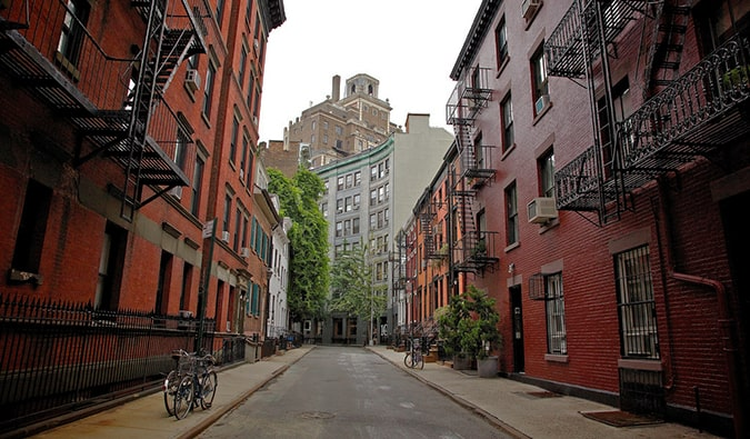 One of the many streets in Greenwich Village in New York City