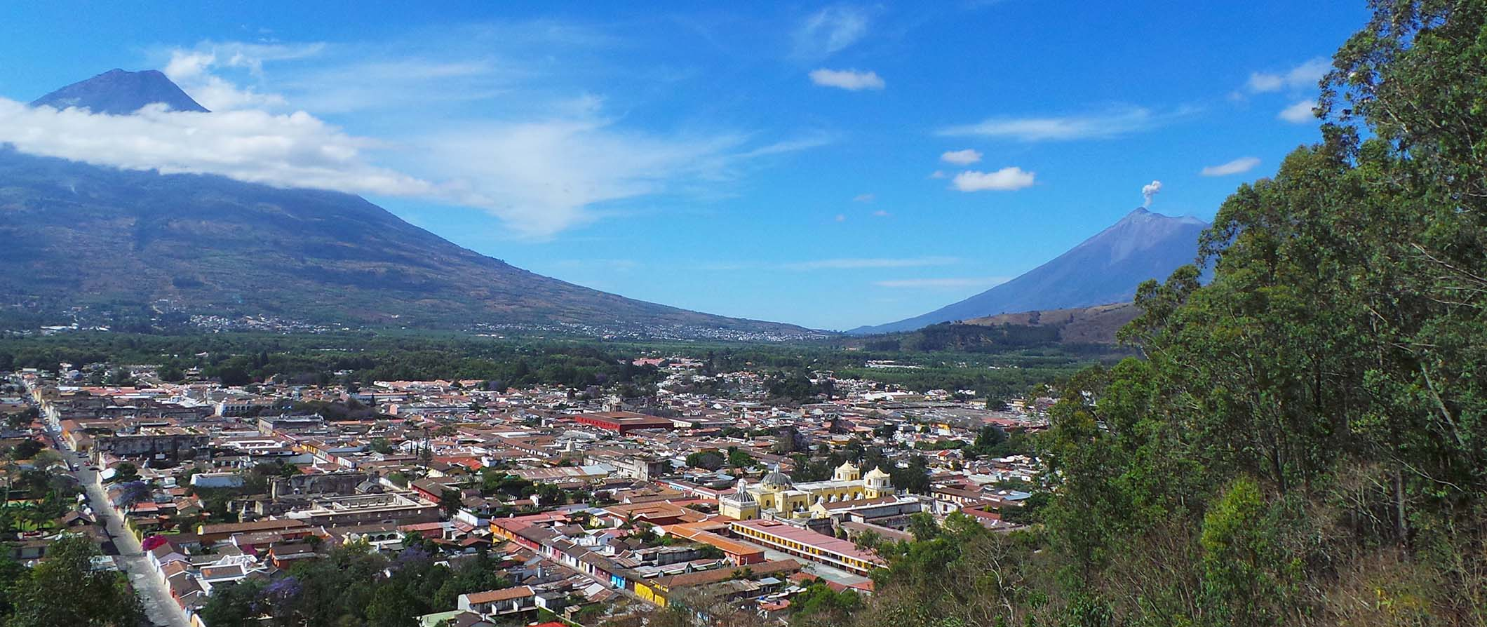 volcano view in Guatemala