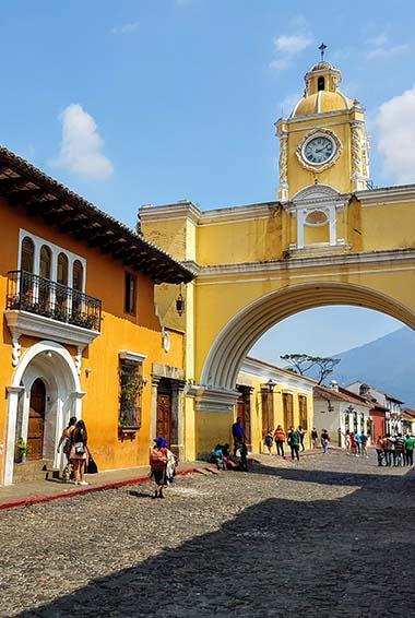 The arch in Antigua Guatemala