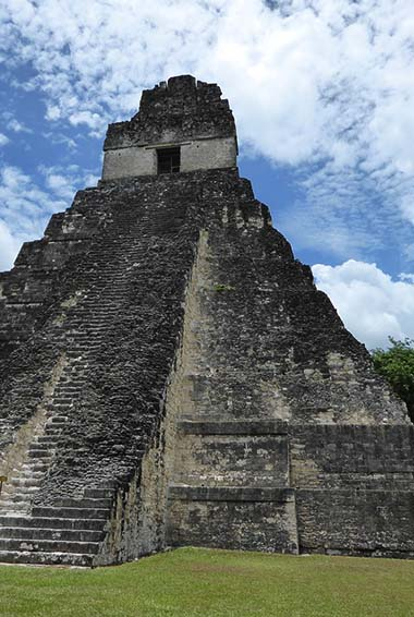The Mayan ruins of Tikal in Guatemala.