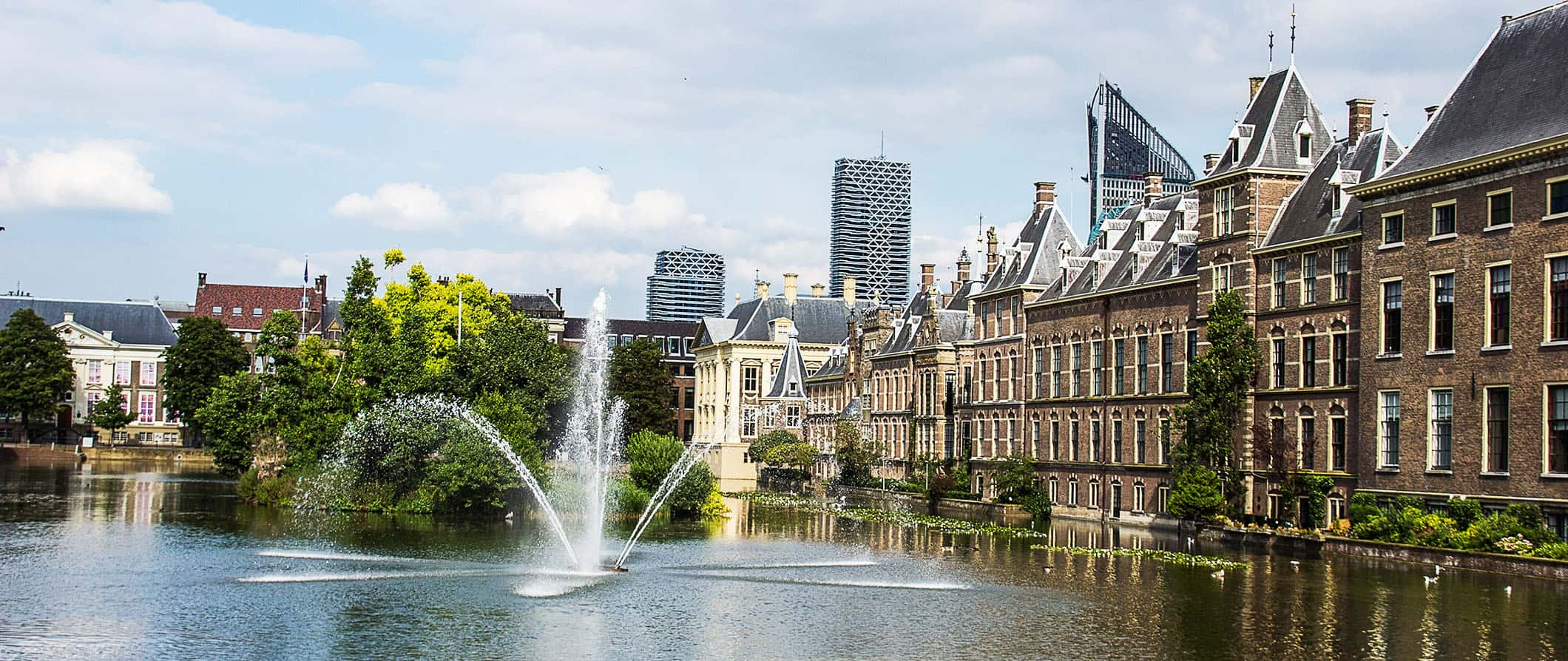 view of the hague from the water