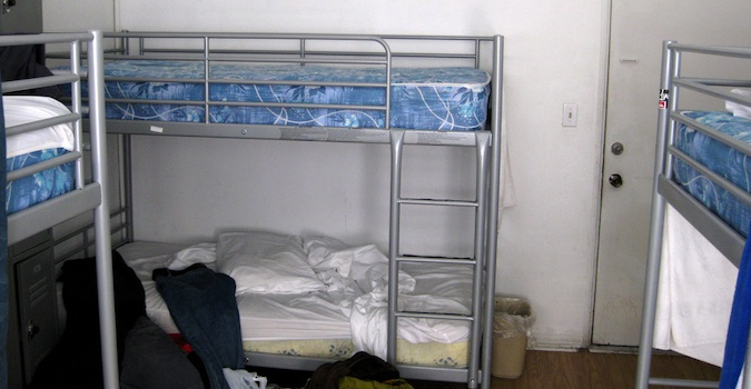 dorm rooms in a hostel