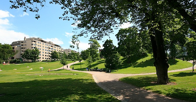 Punavuori Park in Helsinki, Finland is worth a visit
