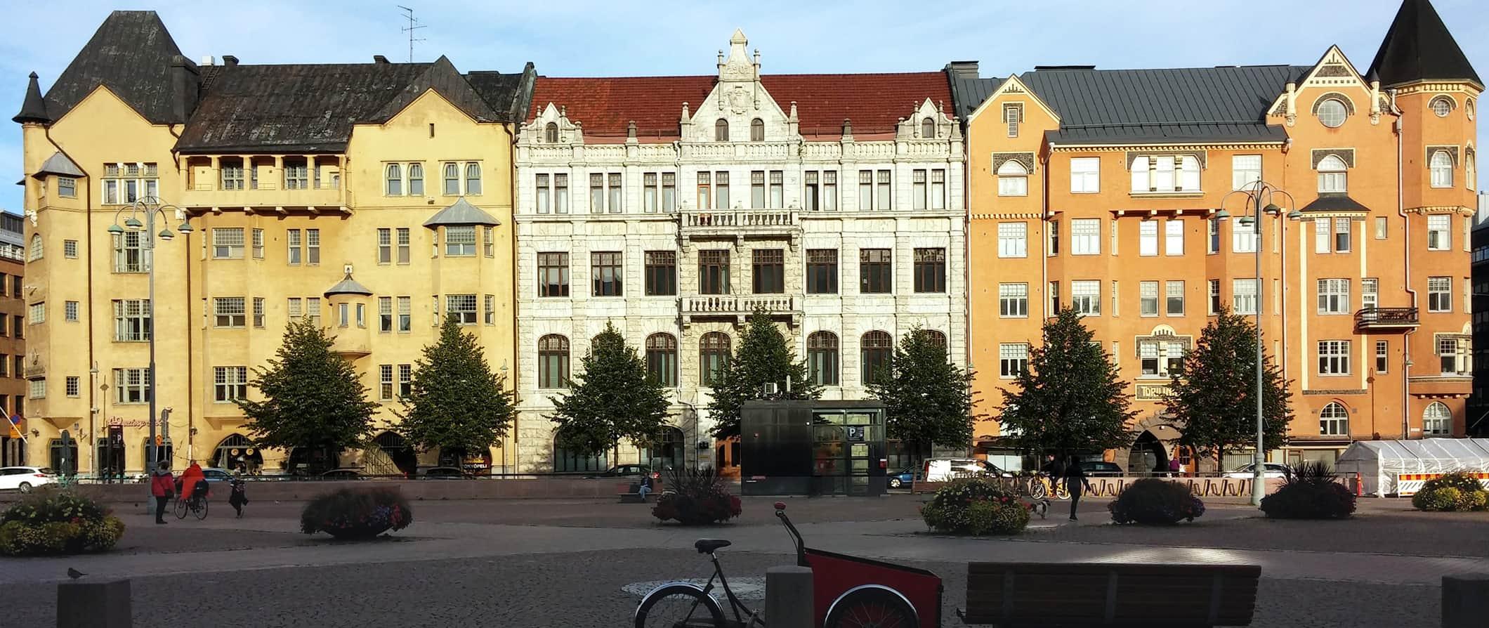 colorful buildings in Helsinki