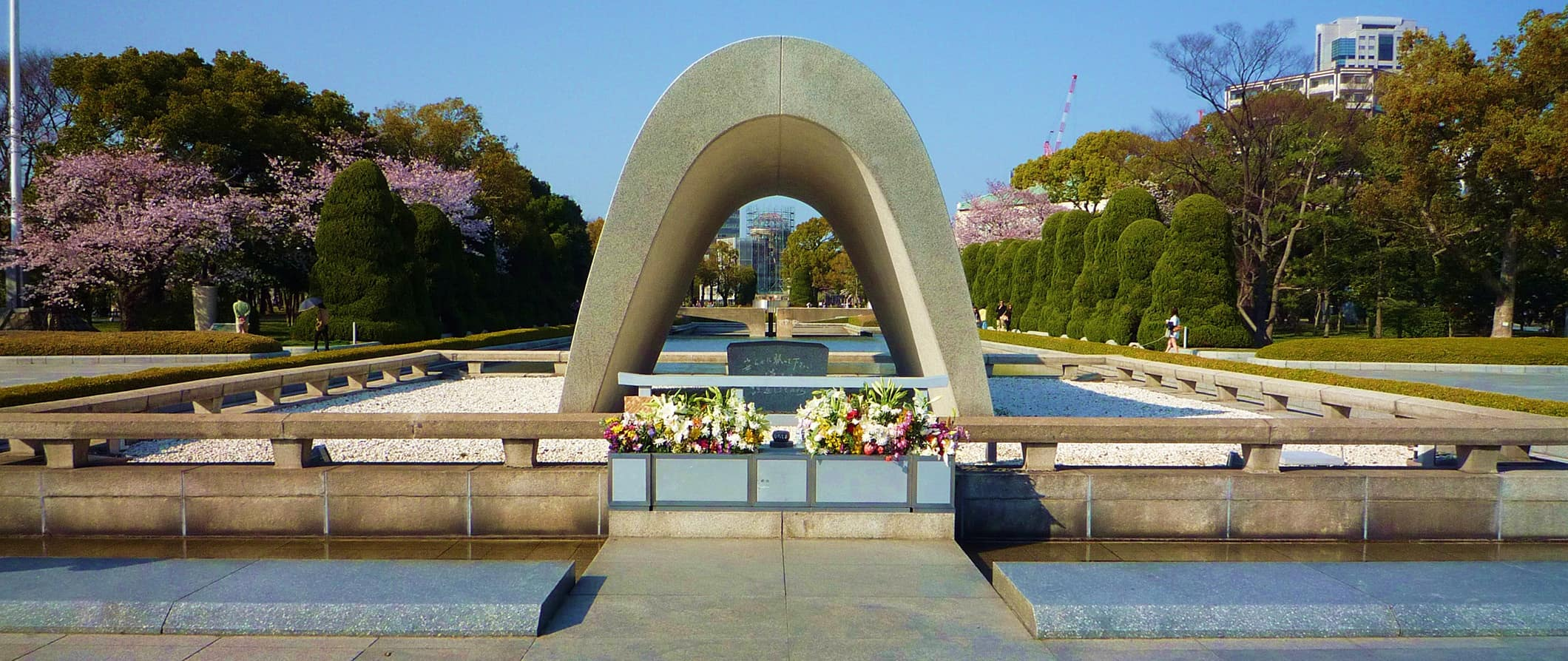 the memorial and peace garden in Hiroshima, Japan