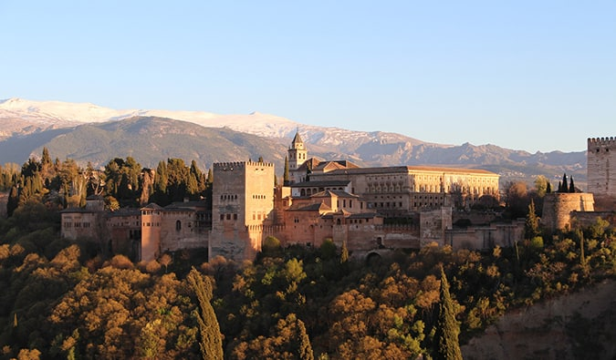 The Alhambra in Granada - Moorish architecture