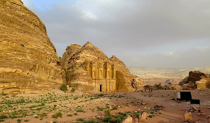 The ruins of Petra Jordan, tribesemen, Holy Grail, UNESCO site, Arabah