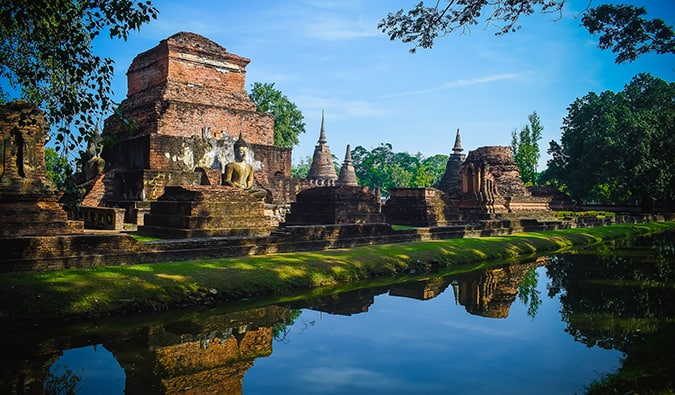 Sukhothai - a collection of temples enclosed by a moat