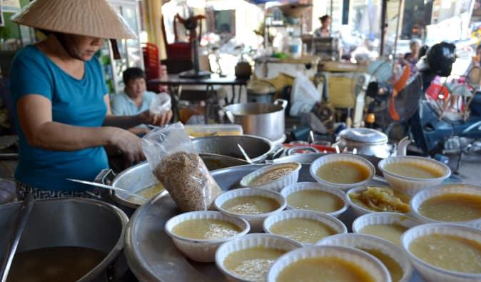 Vietnamese soup seller in Hoi An