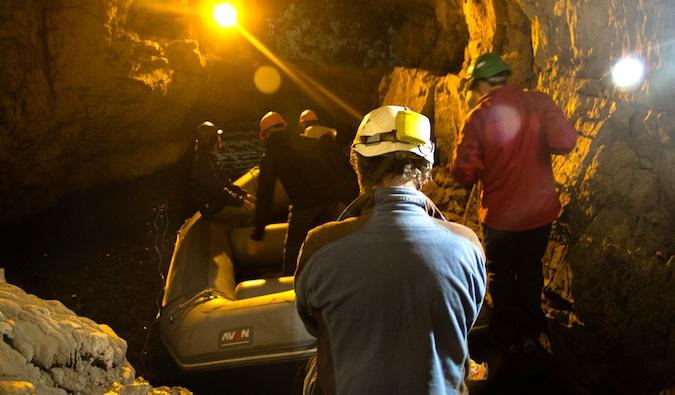 Smoo Cave raft – Durness, Scotland