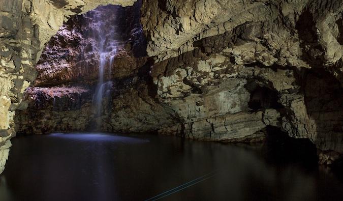 Smoo Cave waterfall – Durness, Scotland