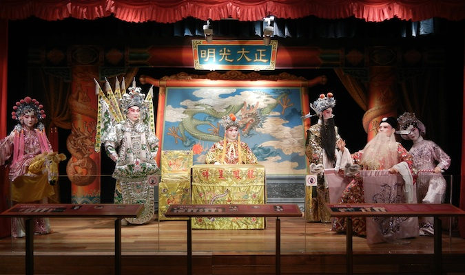 Dolls depicting Chinese historical scenes at the Hong Kong Heritage Museum