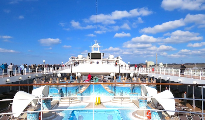 view of a cruise ship deck