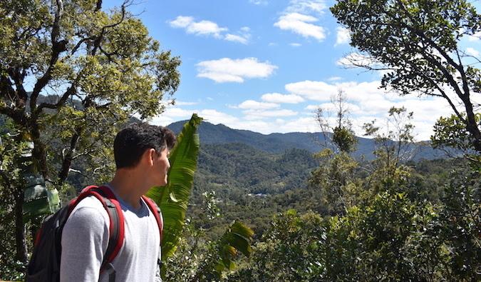 Matt hiking in nature