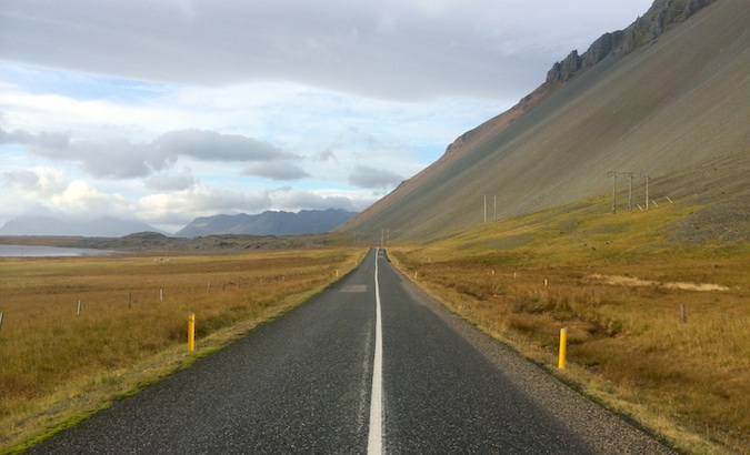 long roads on Iceland