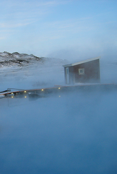 a steamy scene from the Mývatn Nature Baths; photo by nh53 (flickr:@nh53)