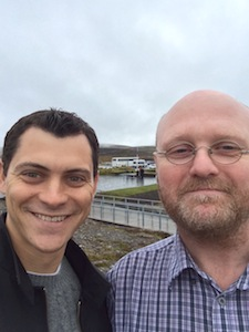 Bragi and Nomadic Matt at the Golden Circle in Iceland