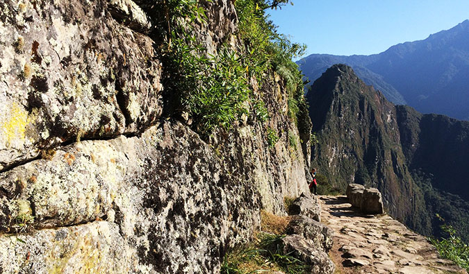 the old stone steps on the Inca Trail in Peru