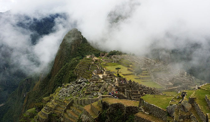 overlooking Machu Picchu on the Inca Trail