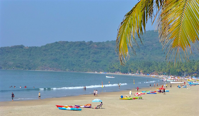 Gorgeous Palolem Beach on a sunny day in India