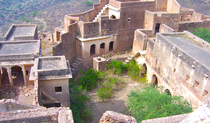 The ruins in Bundi, India on a sunny day