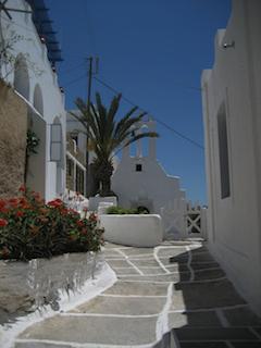a street on the island of ios