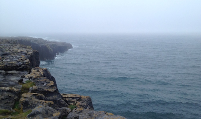 the ocean near the west side of ireland in galway