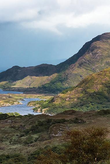 dramatic coastline on the Ring of Kerry, Ireland