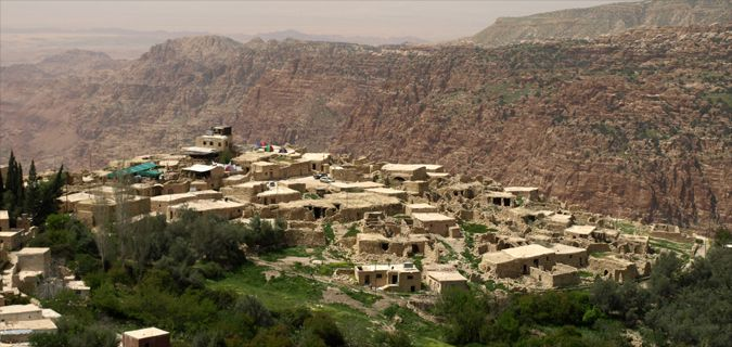 The small ancient city of Dana, Jordan