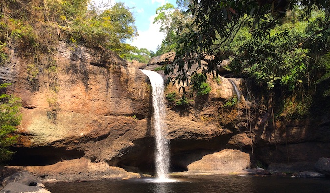 A waterfall in Khao Yai National Park in Thailand