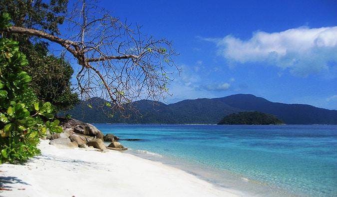 a serene beach scene in Ko Lipe, Thailand
