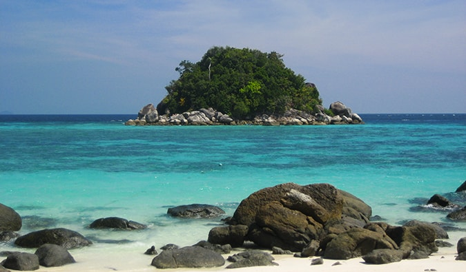 one of the uninhabited islands around Ko Lipe
