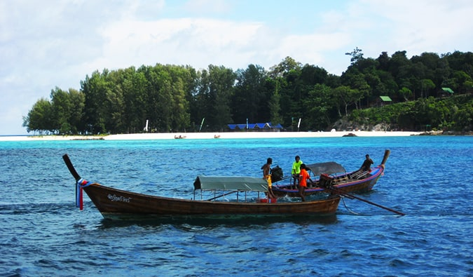 local fishing boats in Ko Lipe