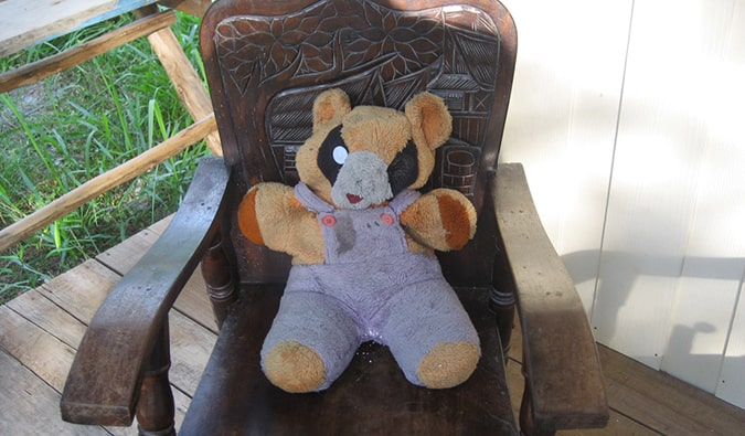 the abandoned teddy bear in Ko Lipe
