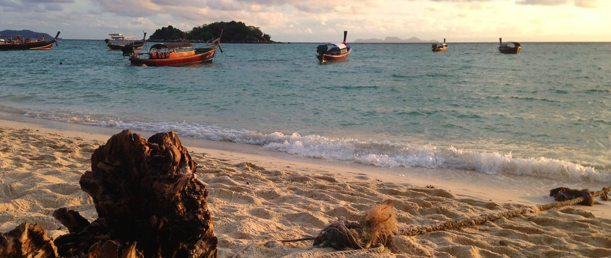 a beach scene in Ko Lipe