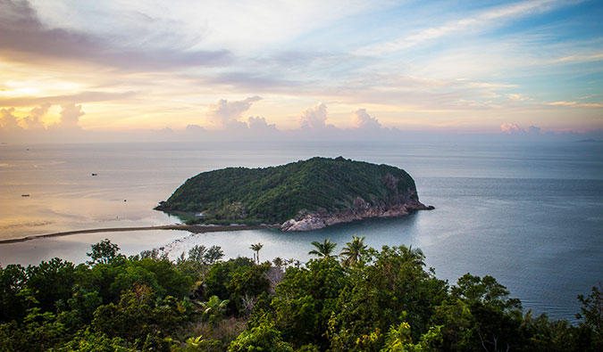 beautiful Ko Phangan Island from afar