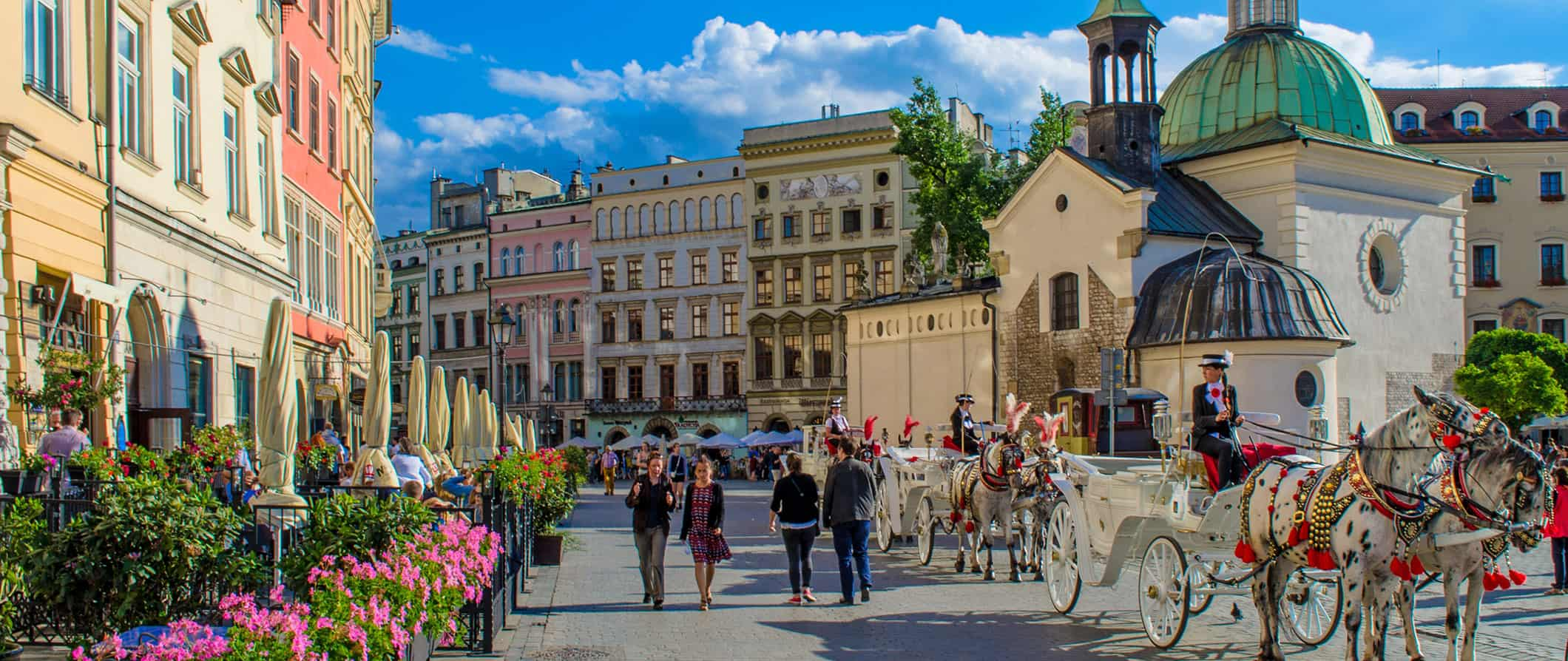 view of Krakow's historical city square