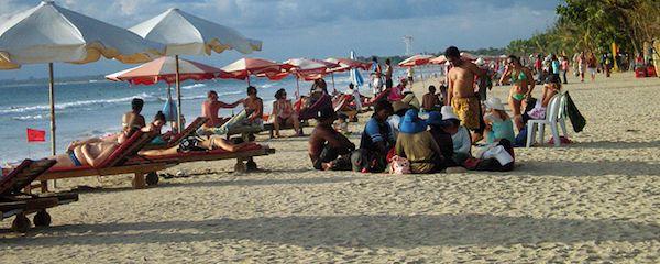 kuta beach in bali, indonesia