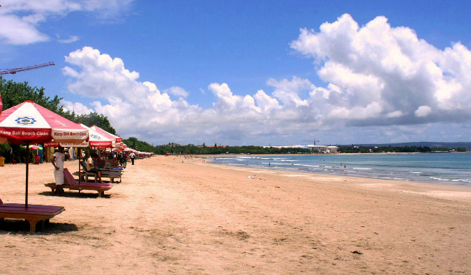 kuta beach in bali, indonesia