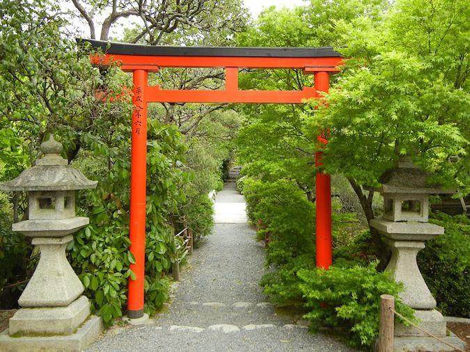 torri gate in Ryoan - ji Temple