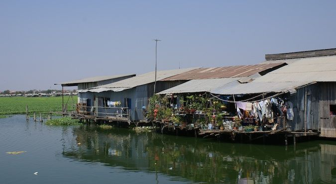 Houses on Beoung Kak Lake in Phnom Penh