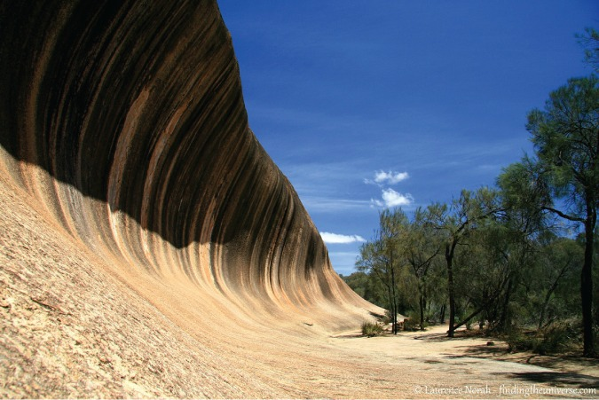 Photo of natural rock formation Wave Rock in Australia