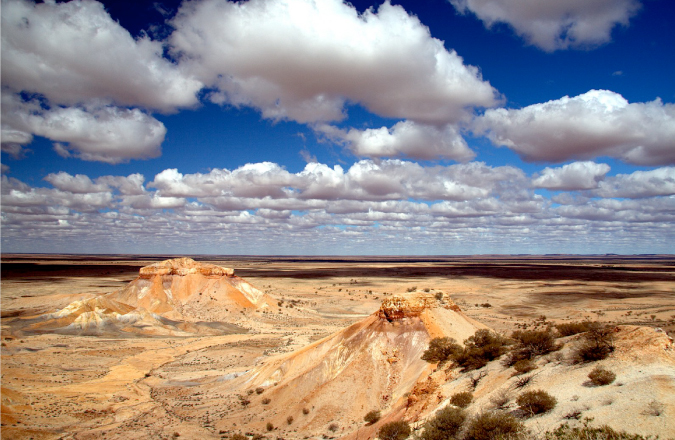 Using weather to a photographers advantage when taking a pic of the mountains and sky Painted Desert