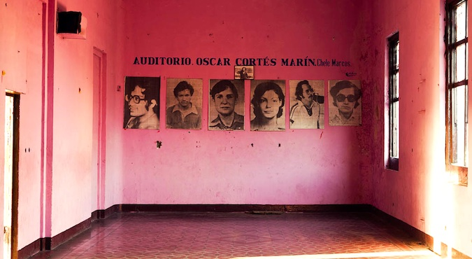 pink room in the museum of the revolution in leon, nicaragua