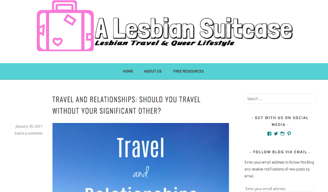 Lesbian Suitcase