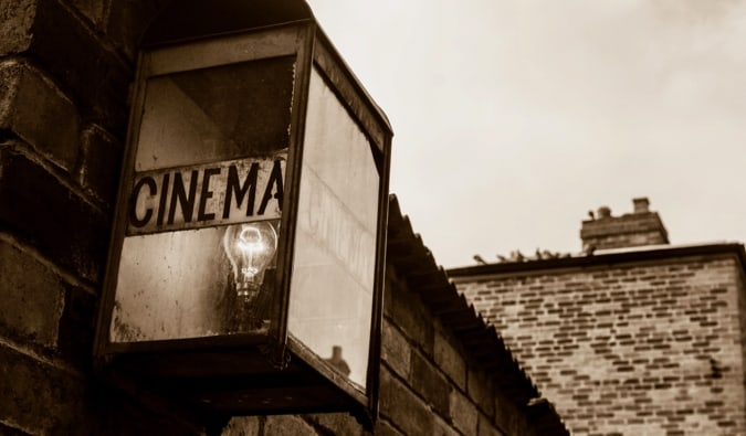 An old cinema sign