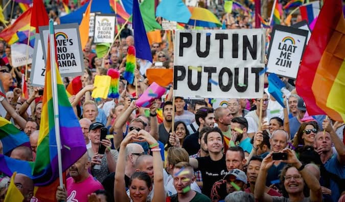 LGBT protests in russia
